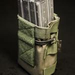 DCMP-L (Ranger Green) - widok z przodu, z magazynkami AR - klapka zdemontowana.