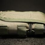 DCMP-L (Ranger Green) - widok z boku, klapka maksymalnie skrócona.