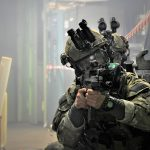 Operators of JW Formoza during the CQB exercise, wearing Ops-Core® FAST Covers in MultiCam®.