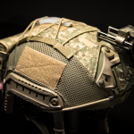 Ops-Core FAST Cover (PenCott® BadLands™) with CWP Mk1.