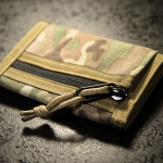 """Minimal"" Wallet (MultiCam® + Coyote Brown finish)."