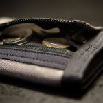 """Minimal"" Wallet (Grey + Black finish)."