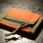 """Minimal"" Wallet (Orange + Coyote Brown finish)."