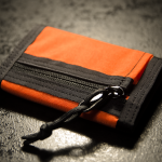 """Minimal"" Wallet (Orange + Black finish)."