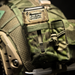MS2000 Strobe Pouch on Ops-Core FAST Cover (MultiCam® Tropic™).