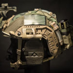 Ops-Core FAST Maritime Cover with MS2000 and AN/PRC-148/152 battery pouch (M81 Woodland/Olive).