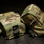 PRC-152 Battery Pouch with and without an optional hole in the flap (MultiCam®).