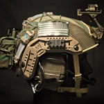 Ops-Core FAST Maritime Cover with MS2000 and PRC-152 battery pouch (M81 Woodland/Olive).