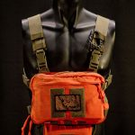 """Frontier"" Chest Rig with IFAK-SD attached (Orange/Coyote Brown)."