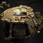 Ops-Core FAST Maritime Cover with MS2000 and AN/PRC-148/152 battery pouch (MultiCam®/Coyote Brown).