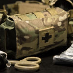 IFAK-SD (MultiCam®) on belt.