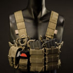 CR-4M (Coyote Brown) with custom flat shoulder straps and an example gear configuration..