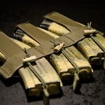 """""""Ranger"""" Chest Rig mag insert with AK magazines."""